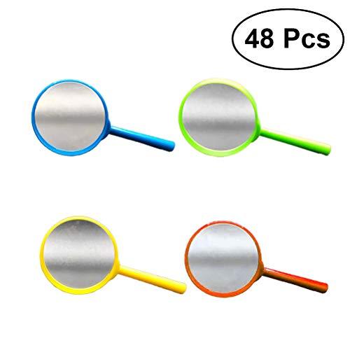 YeahiBaby 48pcs lupas de Mano lupas de plástico portátiles lupas de Lectura para niños pequeños