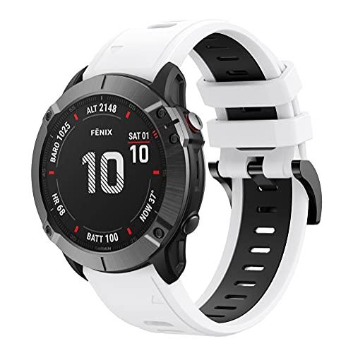 Chainfo Correa de Reloj Reemplazo Compatible con Garmin Fenix 5 / Fenix 5 Plus/Fenix 6 / Fenix 6 Pro/Quatix 5, la Correa de Reloj Watch Band Accessorios (Pattern 3)