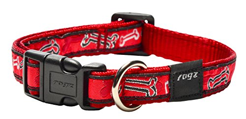 ROGZ HB12-CC Fancy Dress Halsband/Scooter, M, rood