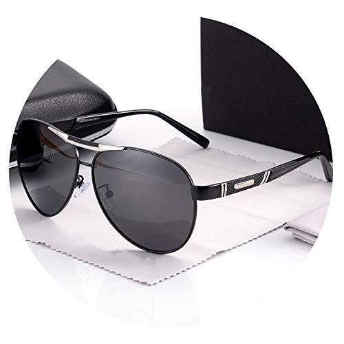 Once Pro 2019 Marque Classique Designer Pilot Mode Hommes Lunettes de soleil polarisées Aviation conduite Des lunettes de soleil Protection UV Homme Hommes, NOIR