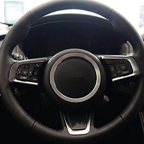 Alliage d'aluminium Volant décoration Anneau Garniture 3D Autocollant Autocollants Argent pour XFL XE F-Type F-Pace X761 E-Pace