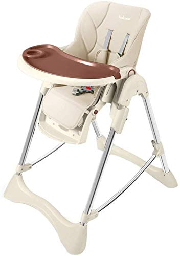 New Laz High Chair Portable Folding Baby Feeding Dining Chair with Removable Tray, 5-Point Safety Ha...