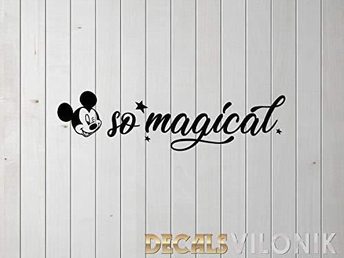 H421ld Calcomanía mágica para ventana de coche, diseño de Mickey Mouse, Disney, Magic, Hashtag, vinilo para ventana, taza de café de agua, tableta, iPad, MacBook, pegatina