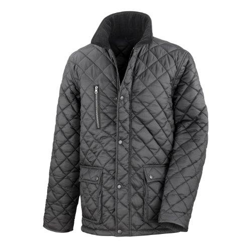 Result Cheltenham, giacca da uomo, trapuntata, con interno in pile, impermeabile, antivento nero XXX-Large