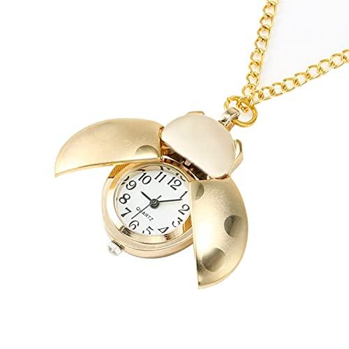 KGDC Reloj de Bolsillo Clásico Reloj de Bolsillo de Cuarzo de Oro de la Vendimia Regalo de la Cadena del Reloj del Colgante mecánico Reloj de Bolsillo Vintage para Hombre
