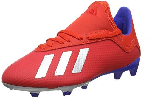 adidas X 18.3 FG J, Zapatillas de Fútbol para Niños, Rojo (Active Red/Silver Met./Bold Blue Active Red/Silver Met./Bold Blue), 38 2/3 EU
