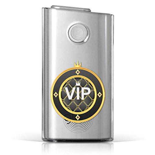 glo グロー グロウ 専用 クリアケース クリアカバー タバコ ケース カバー 透明 ハードケース カバー 収納 デザイン ポリカーボネートユニーク VIP 王冠 イラスト 002380