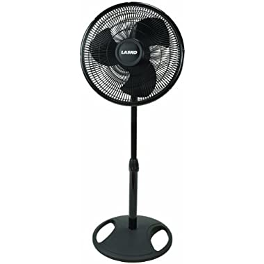 Lasko 2521 Oscillating Stand Fan, 16-Inch, Black