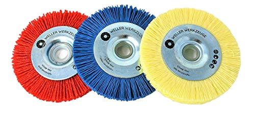 Juego de 3 discos de limpieza de cepillo de nailon para Bosch GWS 10,8 12 V 76, accesorios de acero inoxidable y madera