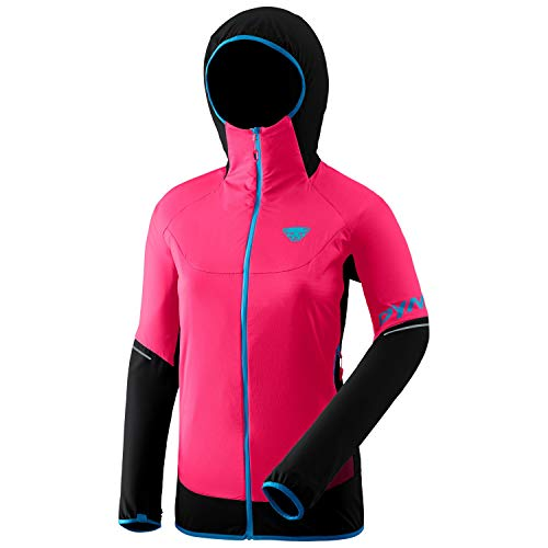 DYNAFIT W Transalper Hybrid Polartec Alpha Jacket Colorblock-Pink-Schwarz, Damen Polartec Isolationsjacke, Größe 36 - F