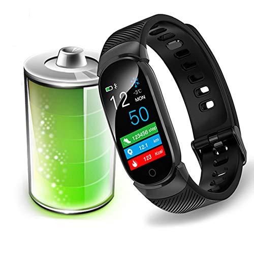 Hakr Wasserdichter Fitness Tracker, 0,96 Zoll Bluetooth Farbdisplay Pulsmesser Wasserdichtes 24H Blutdruckmessgerät Kalorienzähler Funktion