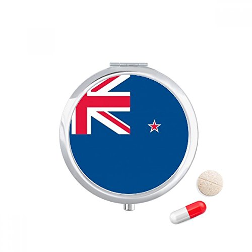 DIYthinker Nieuw-Zeeland Nationale Vlag Oceania Land Reizen Pocket Pill case Medicine Drug Storage Box Dispenser Spiegel Gift
