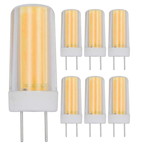 G8 LED Bulbs Dimmable 4W Warm White 3000K T4 JCd Type Bi-Pin Base Energy Saving Light Equivalent 40W Halogen Replacement Bulb for Home Lighting Under Cabinet Counter Light Pack of 6
