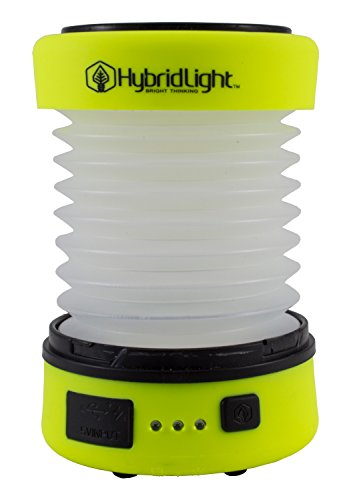Hybridlight Solar Rechargeable Lantern/Cell Phone Charger. 150 Lm. Built in Solar Panel, Hi-Vis Yellow