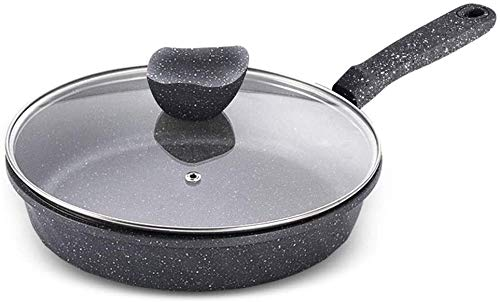 Nonstick Best Frying Pan, Omelette Skillet Frying pan,Aluminum Frying Pan|Flat Bottom Wok| Non-Stick Skillet |with Lid and Anti-scalding Handle ZHANGYN (Size : 28cm)