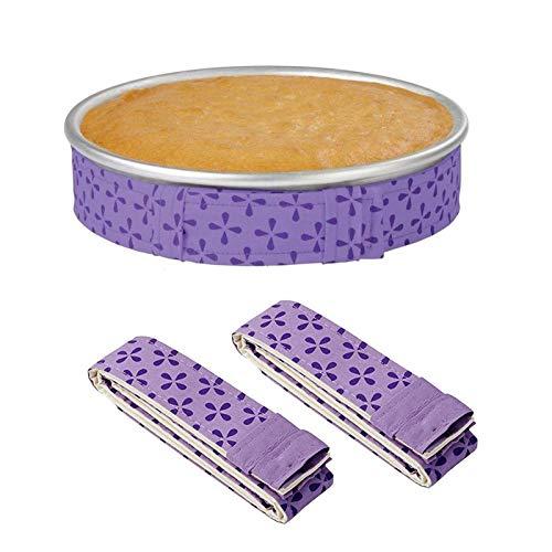 2-Piece Bake Even Strip,Cake Pan Dampen Strips,Super Absorbent Thick Cotton,Cake Strips for Baking,Cake Pan Strips
