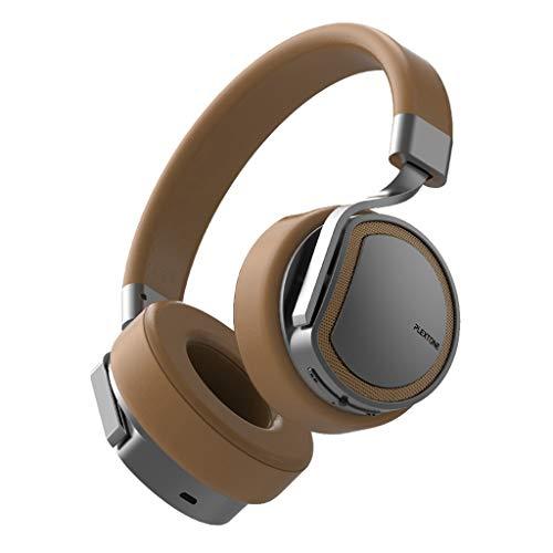 Yowablo Bluetooth verdrahtete drahtloses EIN Ohr-Sturzhelm-Kopfhörer für Videospiel-Musik-Gesprächs-Sport(Gold)