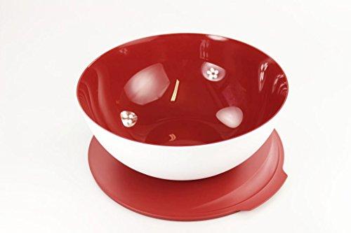 TUPPERWARE Allegra 5,0 L rot weiß Servier Schüssel Schale Servierschalen