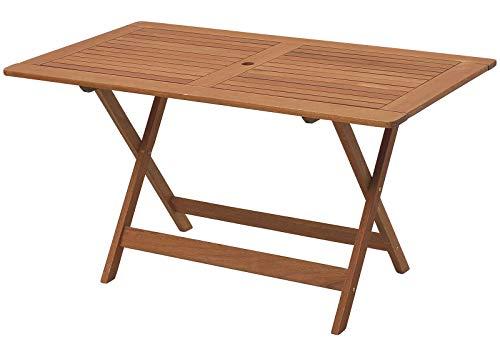 山善 フォールディングテーブル 折りたたみ (幅135×奥行75×高さ71cm) MFT-225