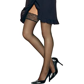 Hanes Silk Reflections Women s Lace Top Thigh High Barely There A/B