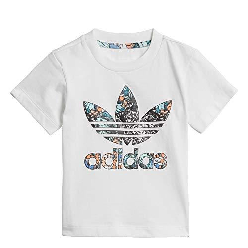 adidas I Zoo tee - Camiseta, Bebé, Blanco(Blanco/MULTCO)