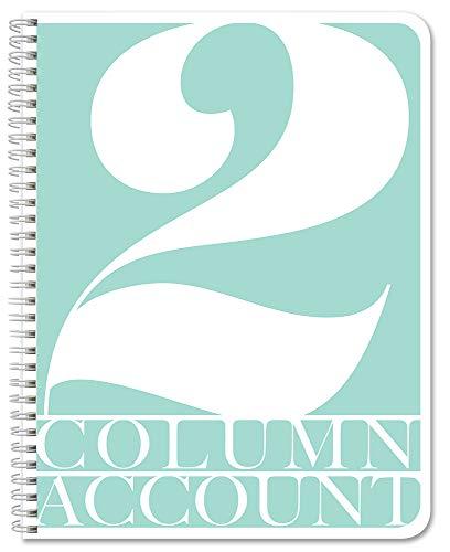 BookFactory 2 Column Account Book/Ledger Book/Accounting Ledger/Notebook (2 Columnar Book Format) - 100 Pages, 8.5