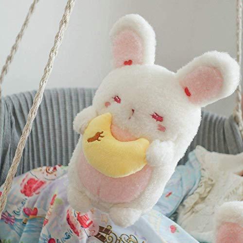 Weiche spielzeug schüchtern bunny plüschtier weiche prinzessin umarmung gefüllte kaninchen mit rotem herz donut moon geschenk für mädchen schlafend freche spielzeug ca.30 cm bunnywithdonut, größe: ca.