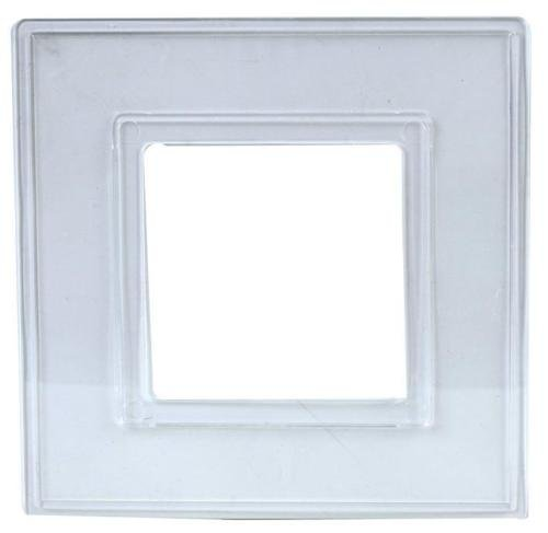 rhinocables Finger Plate Surround for Single Light Switch faceplate or Electrical Plug Socket Clear Back Panel