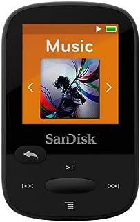 SanDisk 8GB Clip Sport MP3 Player, Black - LCD Screen and FM Radio - SDMX24-008G-G46K