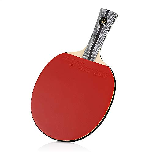 QDOTT Boer - Raqueta de Ping Pong de Goma con Bolsa de Almacenamiento
