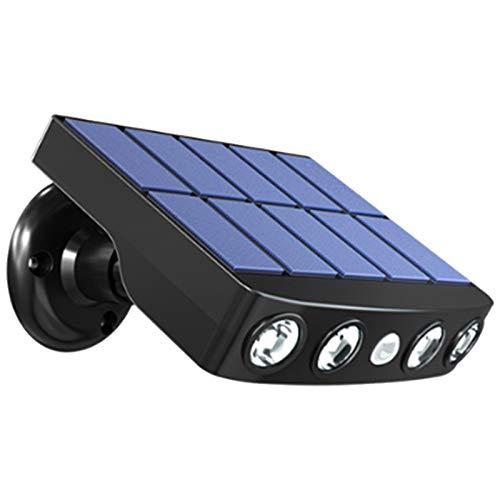 Luces Solares Aire Libre, Lámpara Pared Exterior Impermeable Ultra Brillante LED Mejorada, Luces Seguridad Ahorro Energía Para Jardín, Puerta Principal, Camino, Patio (Cáscara blanca luz cálida)