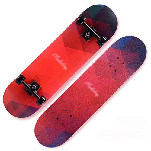 Scooter de la muchacha del cepillo de Hip-hop Junta Principiante cuatro ruedas del monopatín de balancín doble profesional de cuatro ruedas scooter de tablas de skate (Color: B) ZDWN ( Color : B )