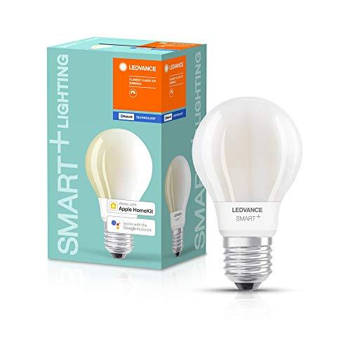 LEDVANCE Smarte LED-Lampe mit Bluetooth Technologie, Sockel E27, Dimmbar, Warmweiß (2700 K), ersetzt Glühlampen mit 100 W, SMART+ Filament Classic Dimmable, 1er-Pack