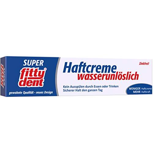 fittydent® Super Haftcreme 40g   Ober- und Unterkieferprothesen   Sparsam in der Anwendung - nur 1x täglich   Einzige wasserunlösliche Haftcreme   Für empfindliches Zahnfleisch   Geschmacksneutral