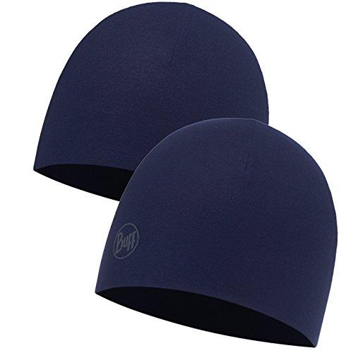 Buff Erwachsene Microfiber Reversible Hat Mütze, Solid Medieval Blue, One Size