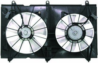 QP HA690-a Honda Accord Sedan Replacement AC A/C Condenser Radiator Cooling Fan/Shroud Assembly