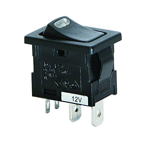 Interruptor LED Negro 12V 10A