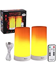 INRA LED Vlamloze Kaarsen met Bewegende Vlam, 2-Pack, Oplaadbare LED Vlamlampjes met Afstandsbediening, Realistische LED Kaars Vlammenlampen met Vlammeneffect, Incl. Afstandsbedieningen met Batterij, Laadkabels, Handleiding.
