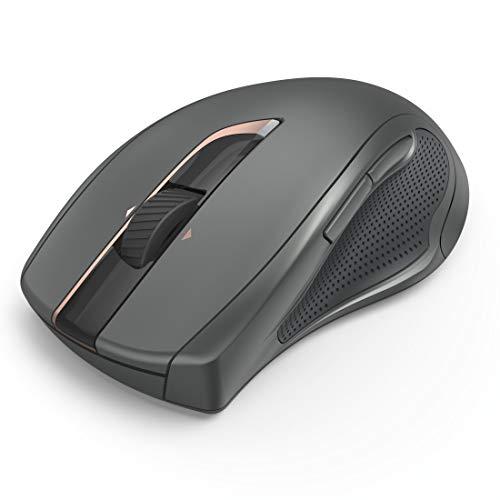 Hama kabellose Funk-Maus, ergonomisch (PC-Maus ohne Kabel, 7 Tasten, wireless Computer-Maus mit 2,4 GHz USB-Empfänger, silent ohne Klickgeräusche, Laser-Sensor, Auto DPI 800-2400) schwarz