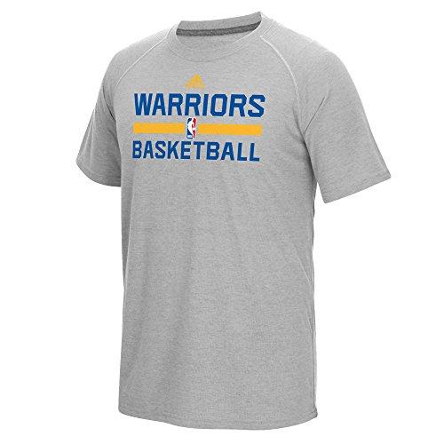 Golden State Warriors hombres gris de Adidas on-Court Climalite camiseta, Golden State Warriors, gris
