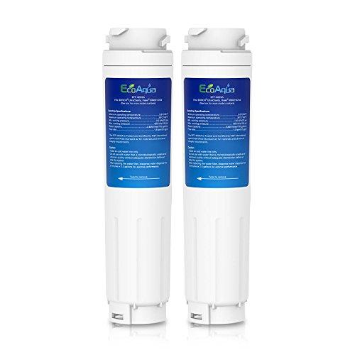 EcoAqua EFF-6025A Filtre de Réfrigérateur à Eau Compatible avec Bosch Ultra Clarity BT-644845 499850, D570104, D405434, 101443 Thermador REPLFLTR10 Ha