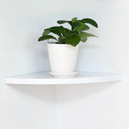 Eckregal, 25 cm, Wandregale für Heimdekoration, Weiß, 1 Stück