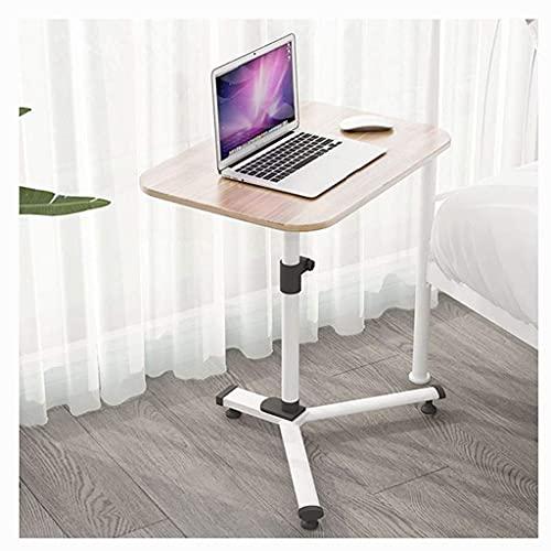 FGDSA Mini Mesa de sobre Cama Escritorio para computadora portátil Altura Ajustable Sofá de café Mesa Auxiliar Estación de Trabajo para computadora portátil Resistente 60x40x (59-100cm) (Color: A)
