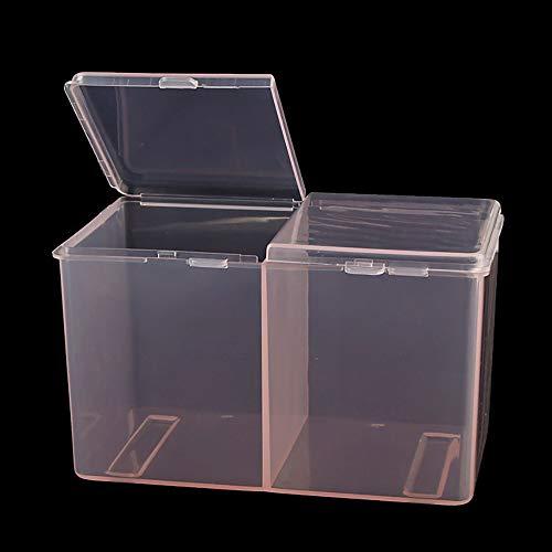 KEERADS 2 Grille Nail Art Boîte De Rangement Strass Perle Acrylique Cristal Gem Gem Bijoux Decorati (Pink)
