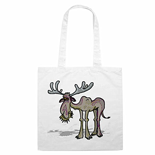 Schoudertas Moose Eten Cartoon Fun Fun cult film serie Winkeltas schooltas sporttas 38x 4