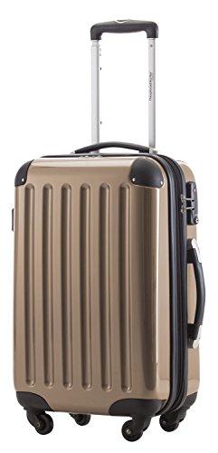 Trolley bagaglio a mano capitale Alex 42litri con TSA in 18diversi colori con beauty beige champagne 42 Litri