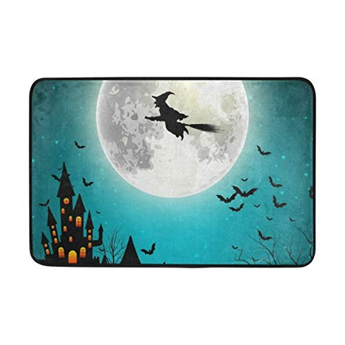 G.H.Y Alfombra de Puerta de Bruja voladora de Halloween 40 * 60...