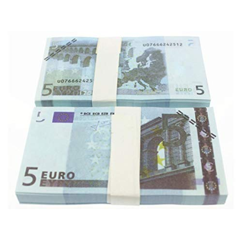 WEIHAN 5 10 20 50 100 200 500 EUR Billetes de Oro en Papel Moneda Falso de Oro de 24K para colección Conjuntos de Billetes de Euro Coloridos