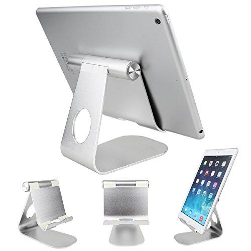 SOONHUA Tablet-Halter 360 ° drehbarer Aluminiumlegierung-Tischplattenhalter-Tablet Ständer für iPad Pro iPad 6/4/3/2/1 Ipad Air 2 Ipad Mini und Anderen Tablet