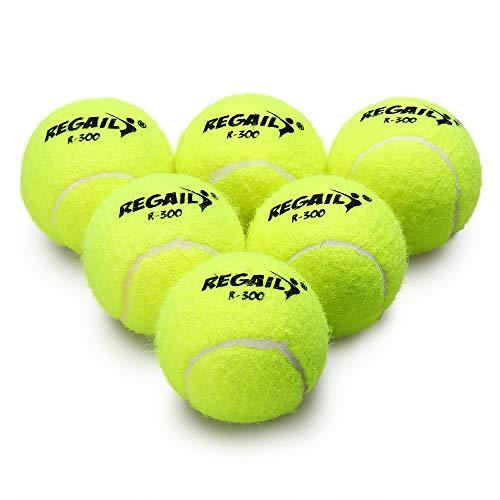 Lixada Drucklos Tennisball Packung 6 mit Netztasche Gummi-Bounce-Training Haustier Spielzeug